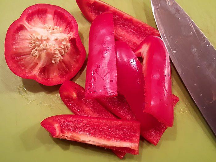 Hoe snijd je een paprika