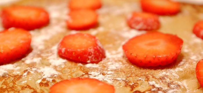 Makkelijke boekweitpannenkoeken met vers fruit