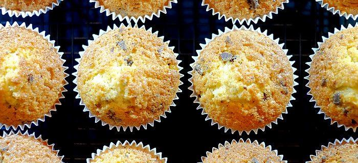 Luchtige cupcakes met chocolat chunks