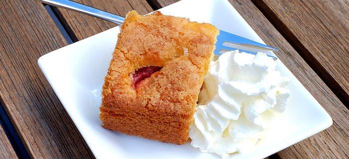 Een lekkere en makkelijke aardbeiencake