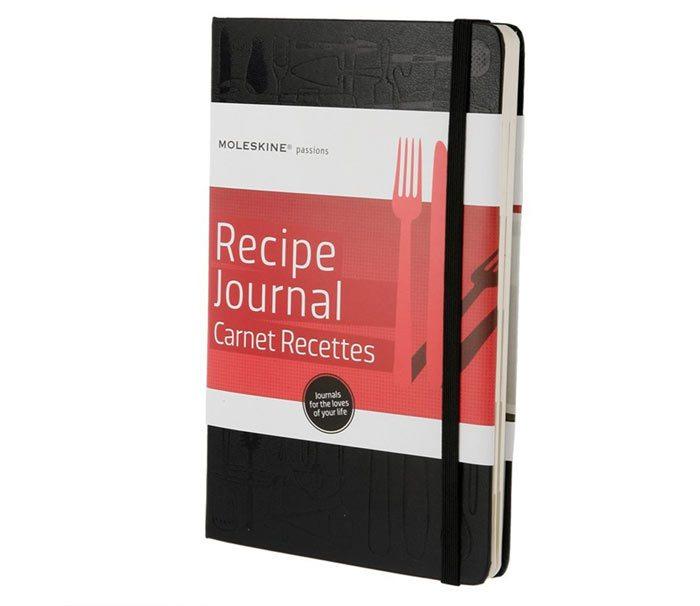 Moleskine recepten schriftje
