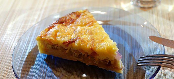 Witlofquiche met beenham en kaas