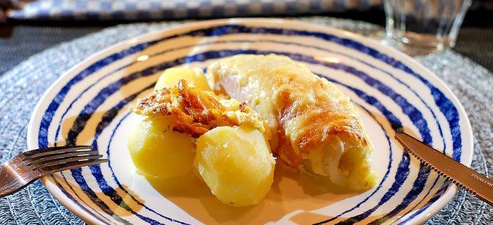 Witlof ovenschotel met ham en Emmental kaas