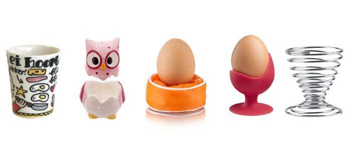Leuke eierdopjes voor op de ontbijttafel