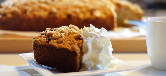 Een makkelijke appelkruimelcake