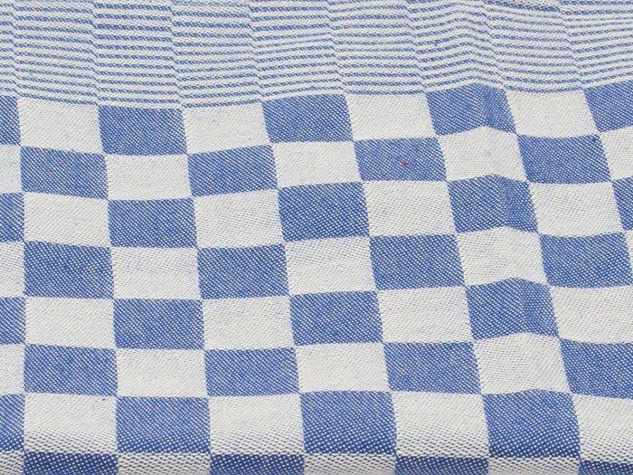 Acker theedoek katoen blauw-wit geruit