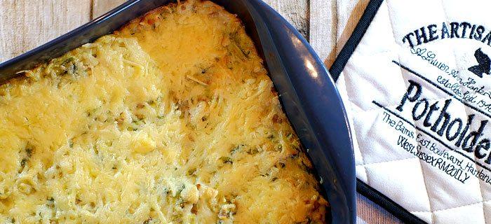 Andijvie ovenschotel met gehakt en kaas