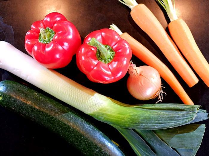 Verschillende soorten groente