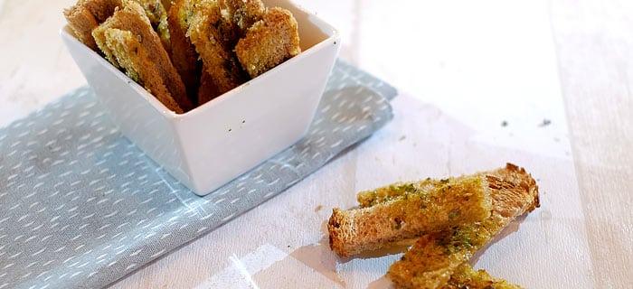 Bruschetta sticks met Italiaanse kruiden