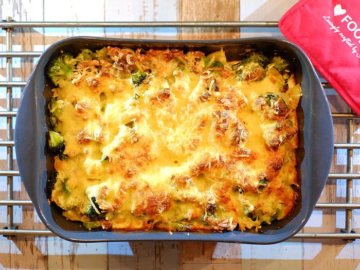 Aardappel ovenschotel met broccoli, walnoot en kaas
