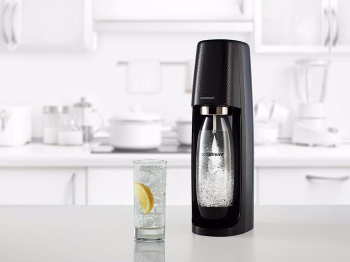 SodaStream Spirit zwart met 3 flessen