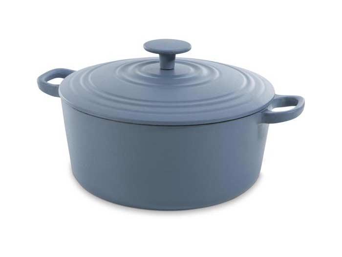 BK Bourgogne gietijzeren braadpan, denim blue