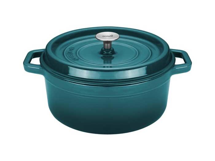 Sola gietijzeren braadpan, blauw/groen