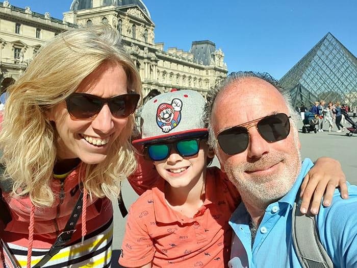 Mijn vrouw en ik met onze lieve zoon Jens