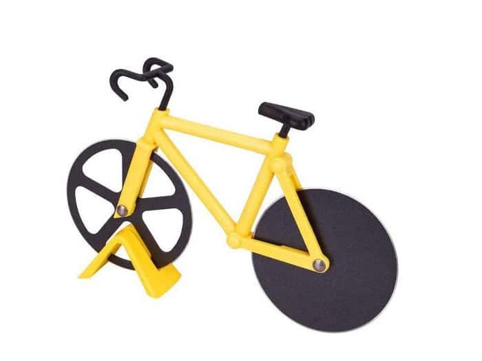 Pizzasnijder in de vorm van een fiets